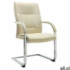Elior Kremowe tapicerowane krzesło biurowe - lauris 2x - ogłoszenia A6.pl