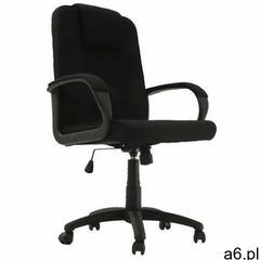 Czarny tapicerowany fotel biurowy - Velos - ogłoszenia A6.pl