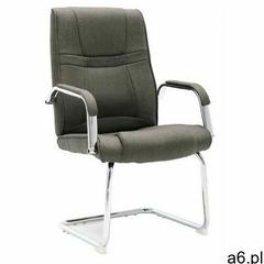 Szare tapicerowane krzesło biurowe - Glomer 3X - ogłoszenia A6.pl