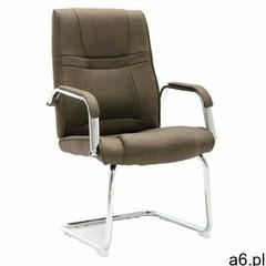 Krzesło biurowe tapicerowane tkaniną w kolorze taupe - Glomer 3X, vidaxl_289348 - ogłoszenia A6.pl