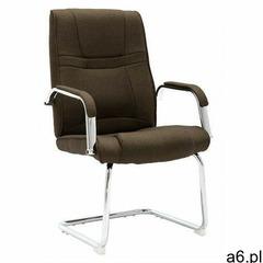Brązowe krzesło konferencyjne z podłokietnikami - Glomer 3X, vidaxl_289346 - ogłoszenia A6.pl