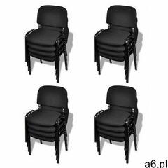 Elior Zestaw 16 czarnych krzeseł konferencyjnych - marvis 3x - ogłoszenia A6.pl