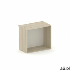 Szafa półkowa, regał future, 800 x 400 x 710 mm, biały/dąb marki B2b partner - ogłoszenia A6.pl