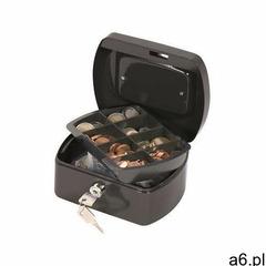 Kasetka na pieniądze Q-CONNECT, mała, 155x75x120mm, czarna, KF02601 - ogłoszenia A6.pl