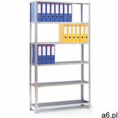Regał na segregatory COMPACT, 8 półek, 2500x1250x300 mm, ocynk, dodatkowy - ogłoszenia A6.pl