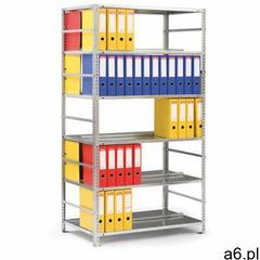 Regał na segregatory compact, 8 półek, 2500x750x600 mm, szary, dodatkowy marki B2b partner - ogłoszenia A6.pl