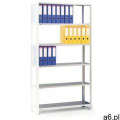 Regał na segregatory COMPACT, 8 półek, 2500x750x300 mm, szary, dodatkowy - ogłoszenia A6.pl