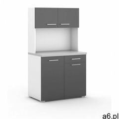 Kuchnia biurowa primo primo bez wyposażenia, biały/grafit marki B2b partner - ogłoszenia A6.pl
