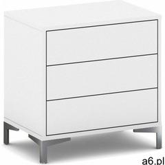Komoda z 3 szufladami White LAYERS - ogłoszenia A6.pl