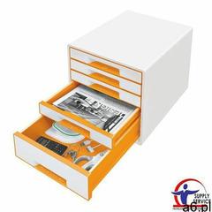 Pojemnik Leitz Wow dwukolorowy z 5 szufladami pomarańczowo-biały 52141044, 52141044 - ogłoszenia A6.pl