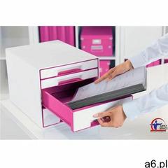 Leitz Pojemnik wow dwukolorowy z 4 szufladami różowo-biały 52131023 (4002432102372) - ogłoszenia A6.pl