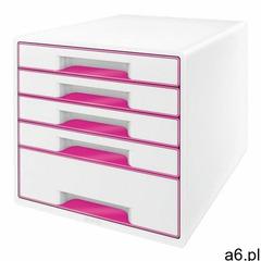 Leitz Pojemnik wow dwukolorowy z 5 szufladami róż.-bialy 52141023 - ogłoszenia A6.pl