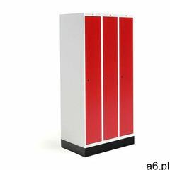 Aj produkty Szafka do szatni roz, 3 moduły, 3 drzwi, 1740x900x550 mm, czerwony, z podstawą - ogłoszenia A6.pl
