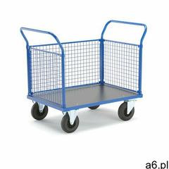 Wózek platformowy transfer, 3 burty siatkowe, 1000x700 mm, koła gumowe, bez hamulca marki Aj produkt - ogłoszenia A6.pl