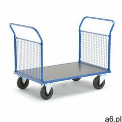 Aj produkty Wózek platformowy transfer, 2 burty z siatki, 1200x800 mm, koła gumowe, bez hamulców - ogłoszenia A6.pl