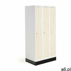 Szafka do szatni roz, 3 moduły, 3 drzwi, 1740x900x550 mm, brzoza, z podstawą marki Aj produkty - ogłoszenia A6.pl