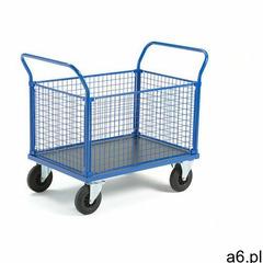 Wózek platformowy transfer, 4 burty z siatki, 1000x700 mm, gumowe koła, bez hamulców marki Aj produk - ogłoszenia A6.pl