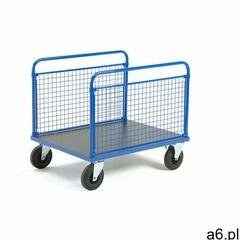 Wózek platformowy transfer, 2 burty z siatki, 1000x700 mm, koła gumowe, bez hamulców marki Aj produk - ogłoszenia A6.pl