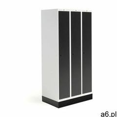 Szafka do szatni roz, 3 moduły, 3 drzwi, 1740x900x550 mm, czarny, z podstawą marki Aj produkty - ogłoszenia A6.pl