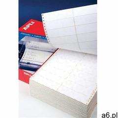 Apli Etykiety do drukarek igłowych , 88,9x36mm, 2-kolumny, prostokątne, białe - ogłoszenia A6.pl