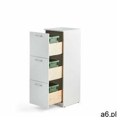 Aj produkty Szafka do segregacji śmieci fahrenheit, 3 szuflady, biały, 3 pojemniki 21 l - ogłoszenia A6.pl