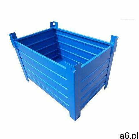 Skrzyniopaleta 700l - pojemnik metalowy do magazynowania i transportu szary marki Pojemniki metalowe - 1