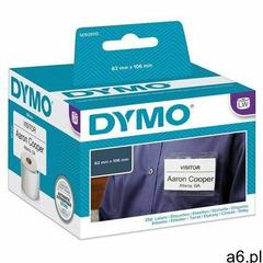 Identyfikatory DYMO imienne 62x106mm bez kleju z dziurką białe S0929110 - ogłoszenia A6.pl