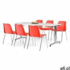 Zestaw mebli sanna + sierra, 1 stół i 6 czerwonych krzeseł marki Aj produkty - ogłoszenia A6.pl