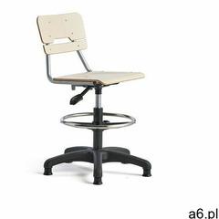 Krzesło LEGERE, małe siedzisko, stopki, 500-690 mm, brzoza - ogłoszenia A6.pl