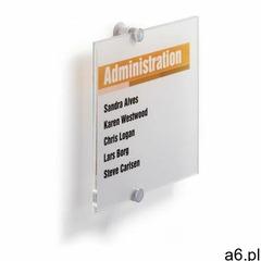 Tabliczka informacyjna DURABLE Cristal Sign 210x210mm 4824, 482419;482419 - ogłoszenia A6.pl