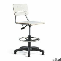 Krzesło LEGERE, duże siedzisko, stopki, 500-690 mm, biały - ogłoszenia A6.pl