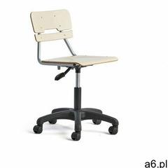 Krzesło legere, duże siedzisko, kółka, 430-550 mm, brzoza marki Aj produkty - ogłoszenia A6.pl
