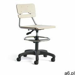 Krzesło legere, duże siedzisko, kółka, 530-720 mm, brzoza marki Aj produkty - ogłoszenia A6.pl