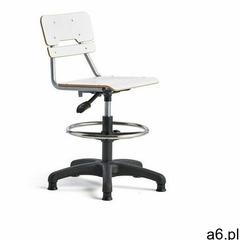 Krzesło LEGERE, małe siedzisko, stopki, 500-690 mm, biały - ogłoszenia A6.pl
