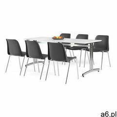 Zestaw mebli SANNA + SIERRA, 1 stół i 6 czarnych krzeseł - ogłoszenia A6.pl