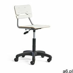 Krzesło legere, małe siedzisko, kółka, 430-550 mm, biały marki Aj produkty - ogłoszenia A6.pl