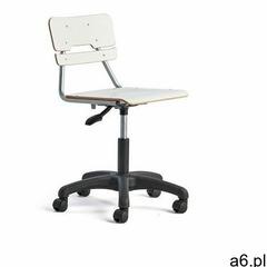 Krzesło LEGERE, duże siedzisko, kółka, 430-550 mm, biały - ogłoszenia A6.pl