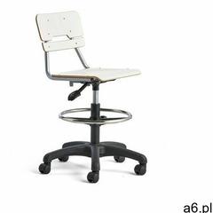 Krzesło legere, małe siedzisko, kółka, 530-720 mm, biały marki Aj produkty - ogłoszenia A6.pl
