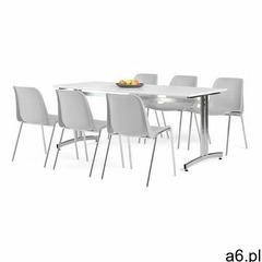 Zestaw mebli sanna + sierra, 1 stół i 6 szarych krzeseł marki Aj produkty - ogłoszenia A6.pl