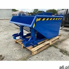 Pojemniki metalowe Kontener metalowy 500l do obsługi z obrotnicą niebieski - ogłoszenia A6.pl