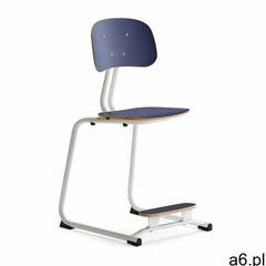 Krzesło szkolne yngve, płozy, biały, granatowy, 500 mm marki Aj produkty - ogłoszenia A6.pl