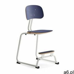 Krzesło szkolne yngve, płozy, biały, granatowy, 520 mm marki Aj produkty - ogłoszenia A6.pl
