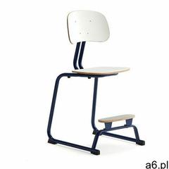 Krzesło szkolne yngve, płozy, kobaltowy, biały, 520 mm marki Aj produkty - ogłoszenia A6.pl