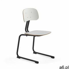 Krzesło szkolne YNGVE, płozy, antracyt, biały, 460 mm - ogłoszenia A6.pl