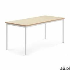 Aj produkty Stół sonitus, 1800x800x760 mm, beżowe linoleum, biały - ogłoszenia A6.pl