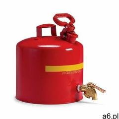 Kanister bezpieczny stalowy, na płyny łatwopalne, (18,9 l.), z kurkiem spustowym czerwony stal powyż - ogłoszenia A6.pl