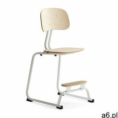 Krzesło szkolne yngve, płozy, biały, brzoza, 520 mm marki Aj produkty - ogłoszenia A6.pl