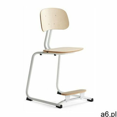 Krzesło szkolne yngve, płozy, biały, brzoza, 500 mm marki Aj produkty - ogłoszenia A6.pl