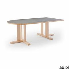 Stół KUPOL, 1800x800x600 mm, szare linoleum, brzoza - ogłoszenia A6.pl