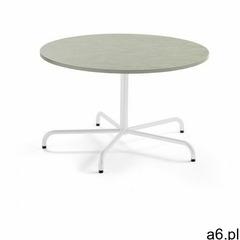 Stół PLURAL, Ø 1200x720 mm, linoleum, szary, biały - ogłoszenia A6.pl